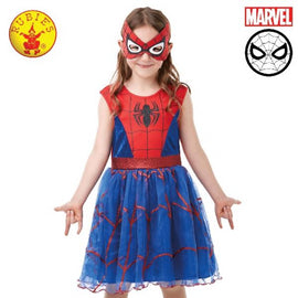SPIDER-GIRL DELUXE TUTU COSTUME, CHILD -SIZE (4-6 YRS ) LICENSED COSTUME