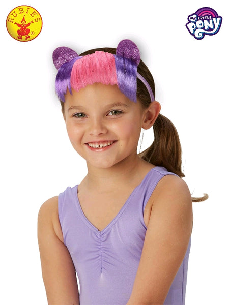 TWILIGHT SPARKLE MY LITTLE PONY HEADBAND WITH HAIR, LICENSED COSTUMES