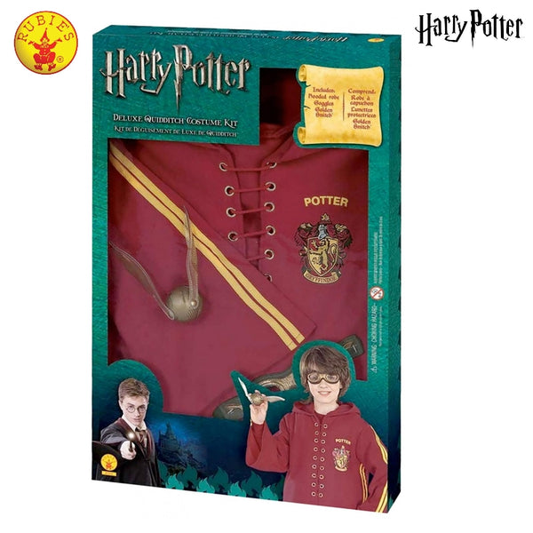 HARRY POTTER QUIDDITCH COSTUME SET, CHILD -(SIZE LARGE ) LICENSED COSTUME - ToyRoo