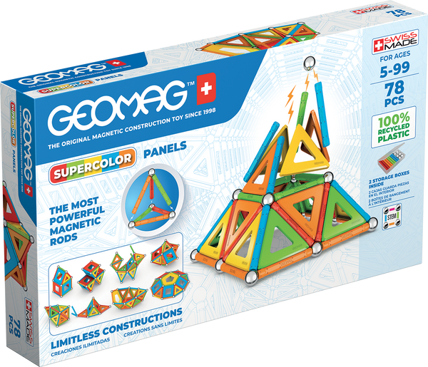 Geomag Supercolor Panels Recycled 78 pcs