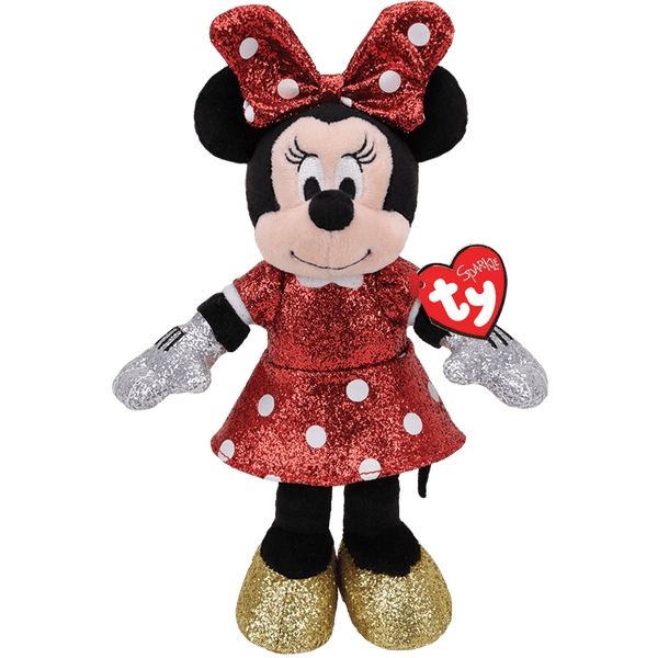 TY Sparkle Beanie Babies - Minnie Mouse Red Sparkle - 20 cm Plush