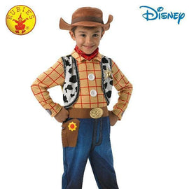 WOODY ( TOY STORY ) DELUXE COSTUME -SIZE 4-6 - LICENSED COSTUME