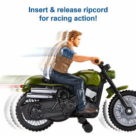 Jurassic World Rip-Run Dinos Owen & Motorcycle - ToyRoo