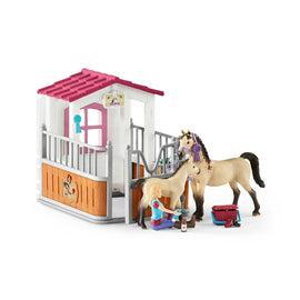 Schleich SC42369 Horse Stall with Horses and Groom Playset - ToyRoo