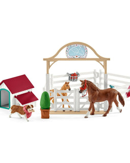 NEW Schleich - Horse Club Hannah's guest horses with Ruby the dog - SC42458