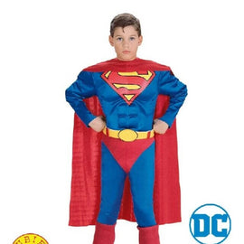 SUPERMAN MUSCLE CHEST COSTUME SIZE M - LICENSED COSTUME