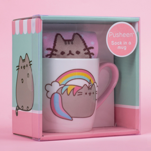 LICENSED PUSHEEN SOCK IN A MUG - PUSHEENICORN - ToyRoo