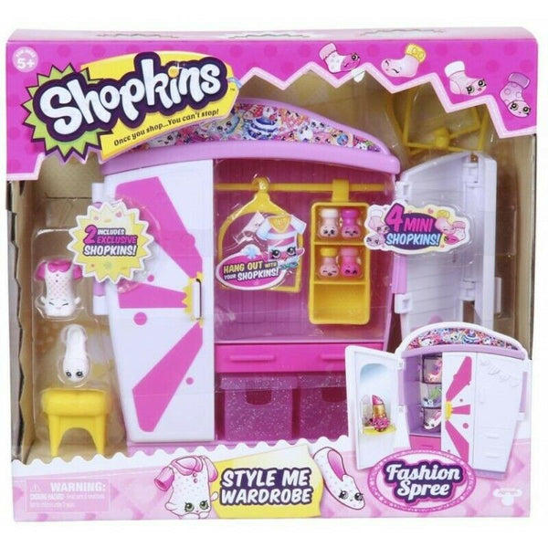 Shopkins Fashion Spree Style Me Wardrobe Playset - ToyRoo