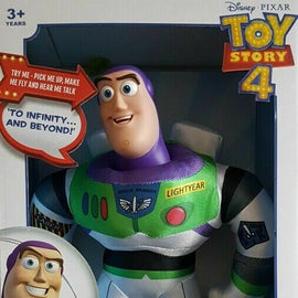 "Toy Story 4 Talking Buzz Lightyear Motion Activated  14"" Plush"