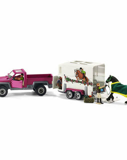 Schleich Pick Up with Horse Box SC42346