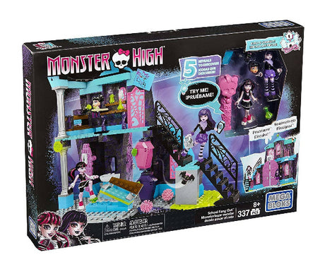 Mega Bloks Monster High School Fang Out School Play Set - ToyRoo