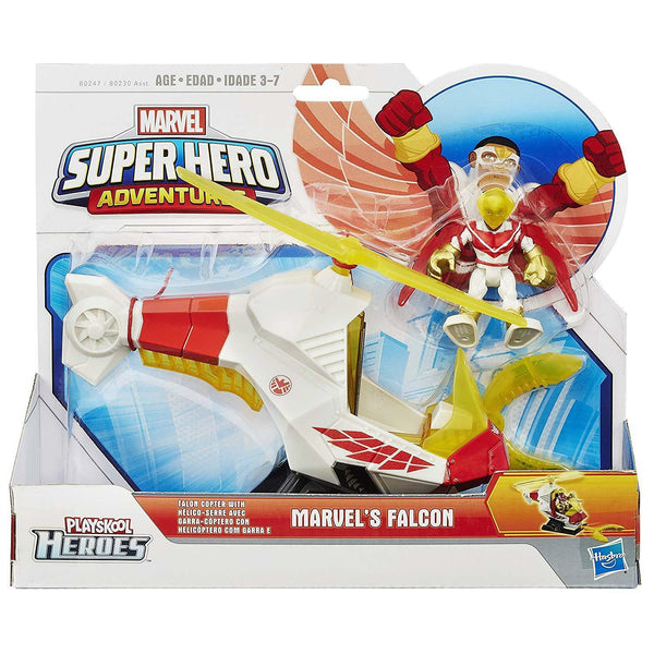 Playskool Heroes Marvel Super Hero Adventures Talon Copter with Marvels Falcon - ToyRoo