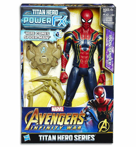 AVENGERS Titan Hero Power FX Spider Man Action Figure, 7 Pieces - ToyRoo