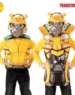 BUMBLEBEE FLIP N REVEAL DELUXE COSTUME TOP, SIZE S - LICENSED COSTUME