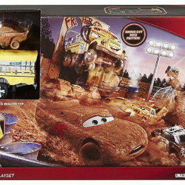 Disney Pixar Cars 3 Fire Smash and Crash Barrel Blast Playset - Crazy 8 derby - ToyRoo