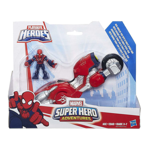 Playskool Heroes Marvel Super Hero Adventures Web-Wheelin' Ultimate Spider Man - ToyRoo