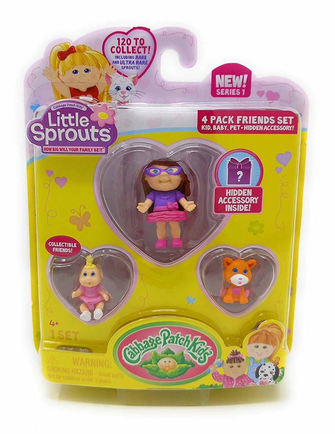 3 Little Sprouts Cabbage Patch Kids collectible friends inside 120 to collect!