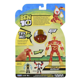 Ben 10 Deluxe Action Figure Power Up - Heatblast - ToyRoo