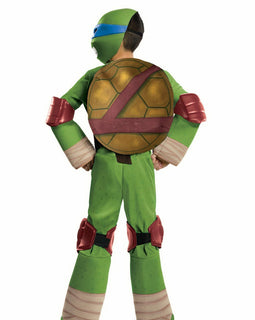 TMNT LEONARDO DELUXE, CHILD SIZE (3-5) -LICENSED COSTUME NINJA TURTLE