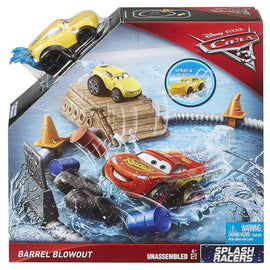 Disney Pixar Cars 3 Splash Racers Barrel Blowout Playset - ToyRoo