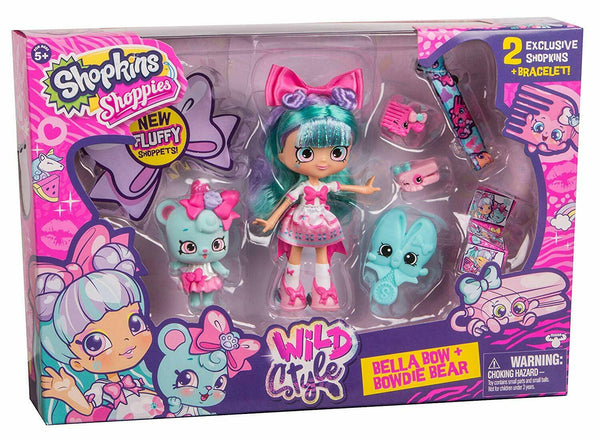 Shopkins Shoppies Wild Style Doll - Bella Bow Playset - ToyRoo