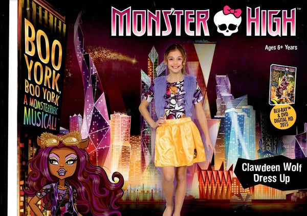 Monster High Boo York Clawdeen Wolf Costume - Licensed - ToyRoo