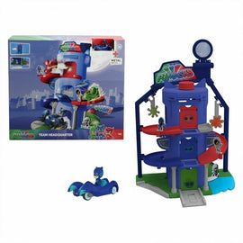 NEW PJ Masks Team Headquarter Playset incl. 1 Die-Cast vehicle Cat-Car 43 cm - ToyRoo