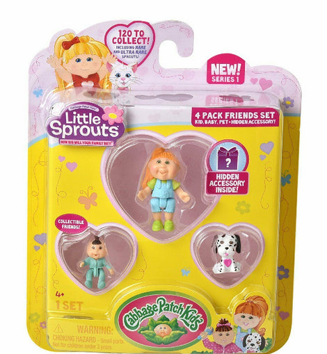 CABBAGE PATCH KIDS LITTLE SPROUTS 4 PACK FRIENDS SET - ToyRoo