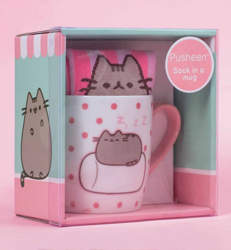 Pusheen Sock in a Mug- Marshmallow - ToyRoo