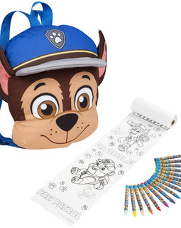 Sambro Paw patrol Chase Backpack with Colouring Arts and Craft Set for Kids