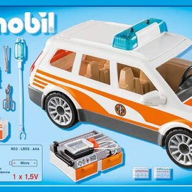Playmobil 70050 City Life Emergency Car with Light and Sound Multi-Coloured