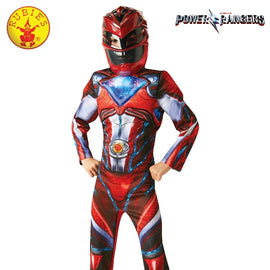 POWER RANGERS RED DELUXE COSTUME, CHILD-(SIZE 6-8 YRS) - ToyRoo