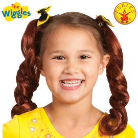 EMMA WIGGLE PIGTAILS WITH BOWS - LICENSED COSTUME - ToyRoo