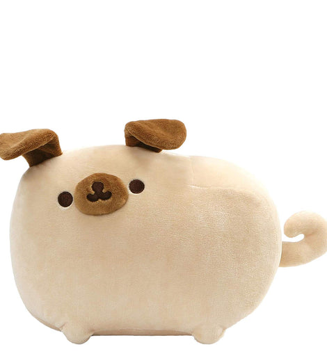 GUND Pusheen Pugsheen Stuffed Plush Dog with Poseable Ears, Tan, 24cm