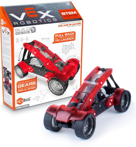 Vex Robotics Gear Racers Pull-Back Car Construction Set by Hexbug