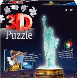 Ravensburger  Statue of Liberty 3D Puzzle Night 108pc,3D Puzzles