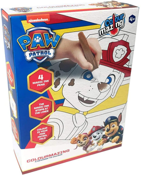Colour Mazing Paw Patrol w/Magic Ink Pens Kids/Children Interactive Art/Crafts