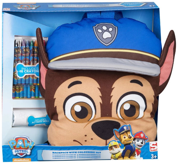 Sambro Paw patrol Chase Backpack with Colouring Arts and Craft Set for Kids - ToyRoo