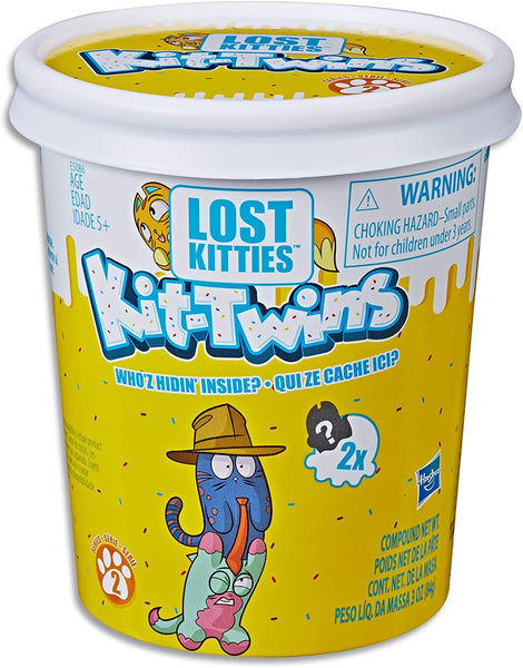 Lost Kitties - Surprise Kit Twins Pack - 2X Collectible Pet Kittens, Modelling Dough and Acc - Kids Toys - Ages 5+