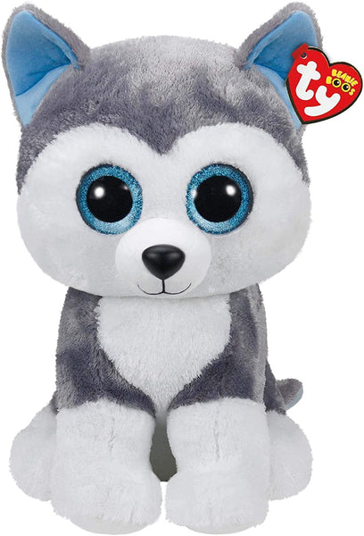 TY Beanie Boos Slush Grey Dog Large 42cm