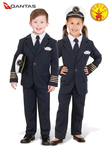 QANTAS CAPTAIN'S UNIFORM, CHILD -LICENSED COSTUMES - ToyRoo