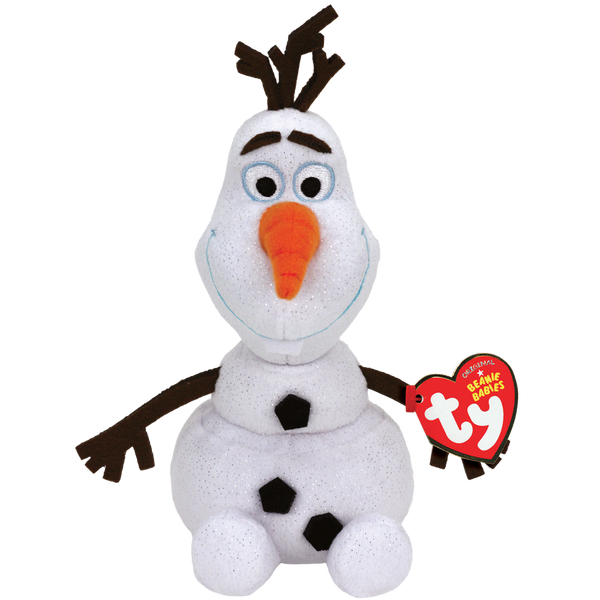 TY Sparkle Beanie Babies - Olaf Snowman from Frozen - 20 cm Plush