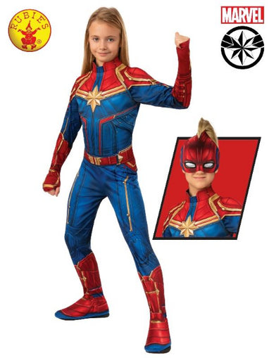 CAPTAIN MARVEL CLASSIC HERO SUIT- CHILD- LICENSED COSTUME - ToyRoo