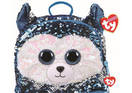 Square Plush Sequin Backpack, 35 cm – Slush the Dog