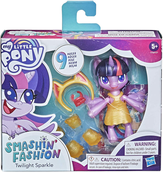 My Little Pony Smashin' Fashion Twilight Sparkle Set -- 3-Inch Poseable Figure