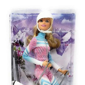 Barbie Made to Move Pink Passport Winter Skier Doll