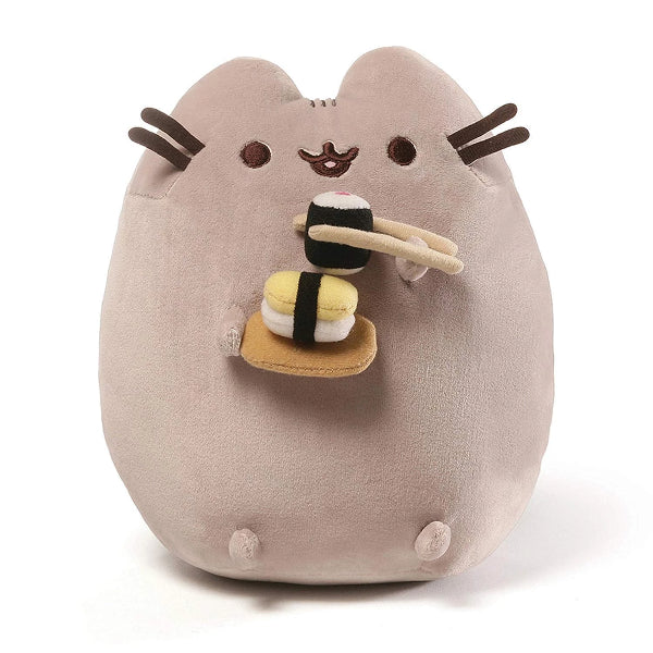 Pusheen the Cat with Sushi Plush 24cm by Gund - ToyRoo