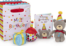 GUND Baby My First Birthday Stuffed Plush Playset, 5 Pieces, 8""