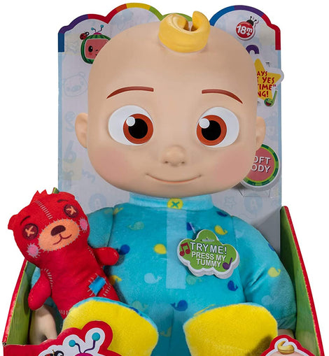 CoComelon Official Musical Bedtime JJ Doll, Soft Plush Body