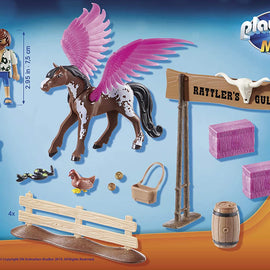 Playmobil: The Movie - Marla and Del with Flying Horse 41 pc- 70074